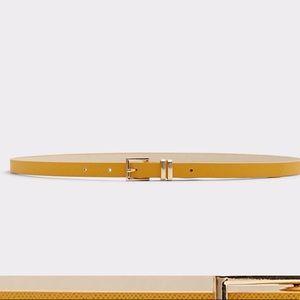 Vintage mustard mohair leather belt